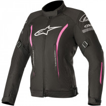 3216819-1039 WOMENS STELLA GUNNER V2 WP ALL-WEATHER JACKET BLACK/FUCHSIA