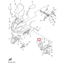 5LV2836K0000 - Voolundi sisemine paneel Yamaha FZS1000 - vasak