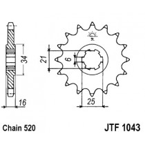 Ketihammasratas ees  JTF 1043-14