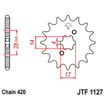 Ketihammasratas ees  JTF 1127-15