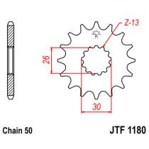 Ketihammasratas ees  JTF 1180-18