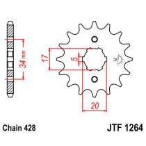 Ketihammasratas ees  JTF 1264-17