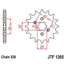 Ketihammasratas ees  JTF 1265-12