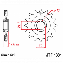 Front sprocket JTF 1381-15 15T